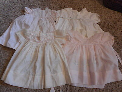 Vintage Baby Girl Clothes Pink White Dresses Slips Lot #837