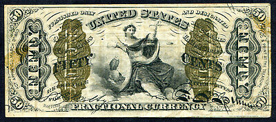 Fractional Currency 50 cent Justice - 3rd issue