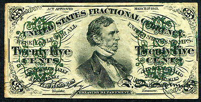 Fractional Currency 25 cents Third Issue