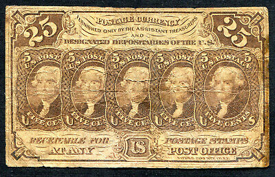 Fractional Currency 25 cents 1st issue
