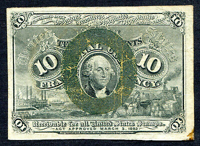 Fractional Currency 10 cents Second issue