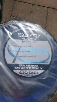100M Tower Crane Rescue Descender System Kit - New - Ce Certification
