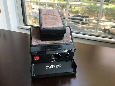 Vintage Polaroid SX-70 Model 2 Camera with Case - Cycles with old Film Pack
