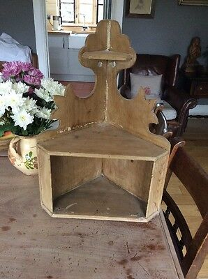 Lovely Victorian Pine Welsh Corner Niche Cupboard Shelf Shelves Country Barn