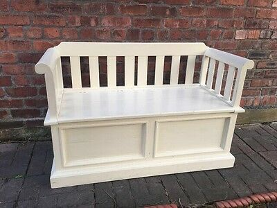 Painted Solid Wood Hallway Storage Bench Seat