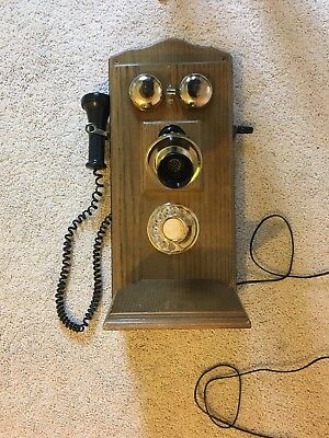 Vintage Wooden Antique Phone Citizen Not Tested