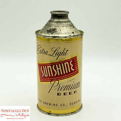 Sunshine Beer Cone Top Can | Breweriana | Straight Steel Cone Top Can