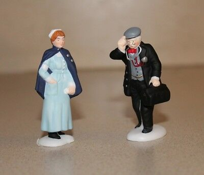 """Dept 56 Access. """"City Professions - Doctor & Nurse"""" 56.58962 Christ. in the City"""
