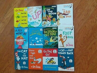 Lot of 6 Dr. Seuss Books Beginners Book Series Collection ABC Cat In Hat ....