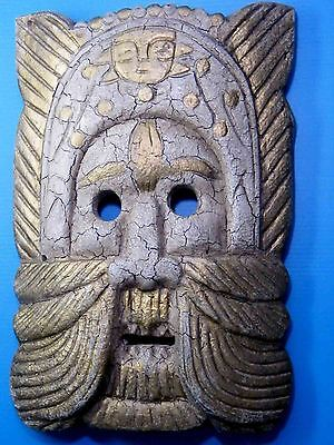 CLASSICAL TRIBAL TIKI WOODEN WALL HANGING MASK BALI INDONESIAN HOME DECOR No.01