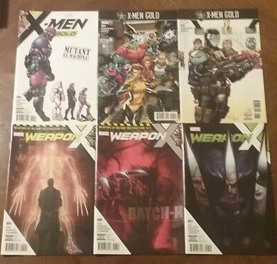 2017 Marvel Comics Lot X-Men Gold 6,7,8 Weapon X 5,6,7 Comic-Books Brand New NM