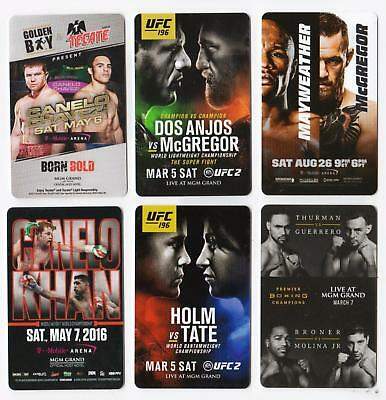 MGM GRAND casino*MGM Ufc/Boxing Fight Cards set #6 *Las Vegas hotel~6~ key cards