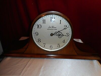 Vintage Seth Thomas Westminster Chime Electric Mantel Clock-Lovely & Needs Work!