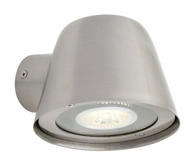 NEW Cairns Exterior Stainless Steel 1 Light with Clear Glass Diffuser