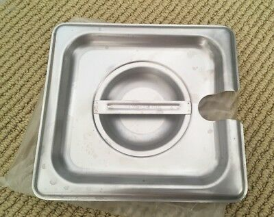 1/6 Size Slotted Stainless Steel Steam Table / Hotel Pan Lid Cover