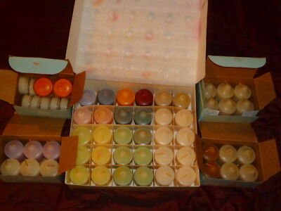 Lot (61) PARTYLITE Candles: 48 Votives +13 Tealights VARIETY of SCENTS <retired>
