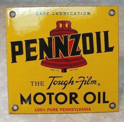 Vintage Pennzoil Motor Oil Porcelain Service Station lubster Sign