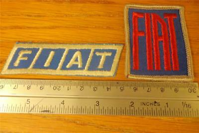 (2) FIAT EMBROIDERED HAT JACKET Patches Auto Car Auction