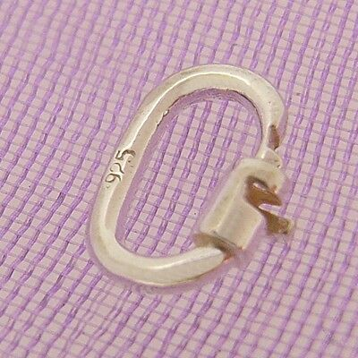 Solid Sterling Silver Link Lock Jump Ring Safe Charm Attaching