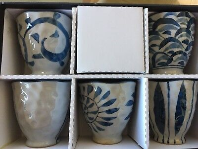 Japanese cups x 5