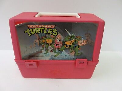Teenage Mutant Ninja Turtles Lunchbox Lunch Box 1988 w/ Thermos Red