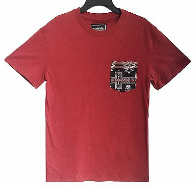 New Beautiful Giant Men's pocket T-shirt Crew Neck Short Sleeve Cotton Tee Red S