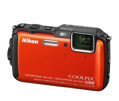 Nikon COOLPIX AW120 Waterproof 16MP Digital Action Camera - Red