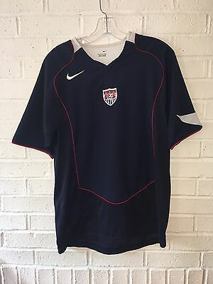 Men's Nike Dri Fit USA Soccer Jersey Size Small Blue Athletic Shirt