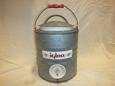 Vintage Galvanized Steel Igloo 2 Gallon Water Cooler