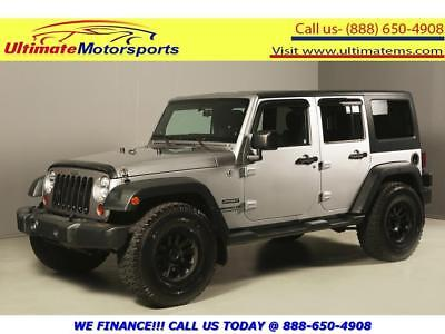 "2013 Jeep Wrangler 2013 UNLIMITED SPORT 4x4 6-SPEED MANUAL 17""ALLOYS 2013 JEEP WRANGLER UNLIMITED SPORT 4x4 6-SPEED MANUAL 17""ALLOYS SILVER"