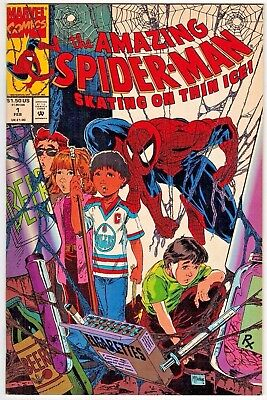Amazing Spider-Man Skating on Thin Ice #1 (1990 Marvel) Todd McFarlane NM-