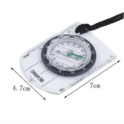 AU New Baseplate Ruler Map Scale Camping Hiking Survival Compass Emergency A#