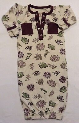 L'oved Baby Girl Gown Purple Floral size 0-3 Months