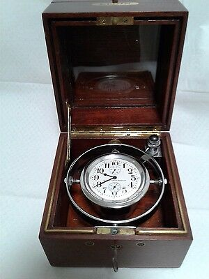 Elgin deck watch gimgaled chronometer torpedo boat watch in both boxes