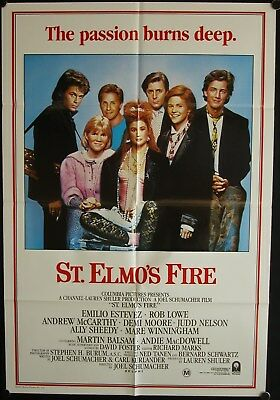 St. Elmo's Fire (1985) Australian One Sheet