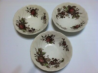 "3 Johnson Brothers 'C'  Tableware 6"" Cereal Bowls"