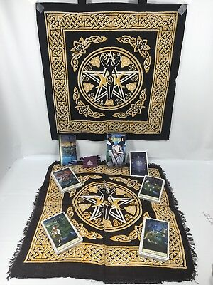 The Hobbit Tarot 78 Cards + Goddess Tote Bag + Layout Cloth + Cleansing Crystal