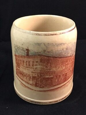 Booth Bros Philadelphia Beer Brewery Advertising Pottery Mug Cup Stein 1/4 Liter