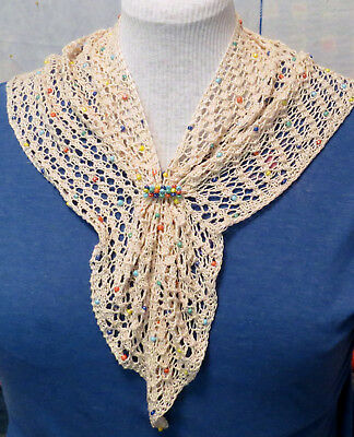 Easy, Beaded-Lace Summer T-Shirt Topper Pattern/kit