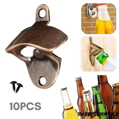 10X Beer Wine Bottle Open Cap Bar Openers Bronze Wall Mounted Kitchen Classic