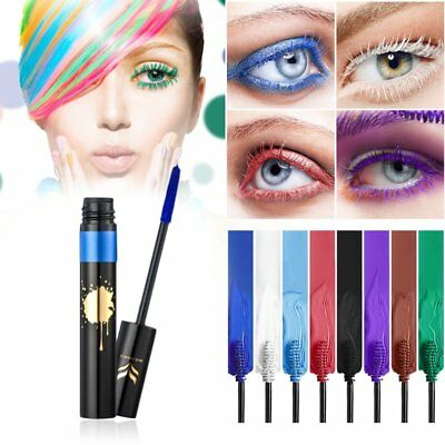 HUAMIANLI Waterproof Colorful Eye Makeup Lengthening Thick Curly Mascara Tool AU