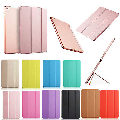 For New iPad 9.7 2018 / 2017 Smart Magnetic Leather Stand Hard Back Case Cover