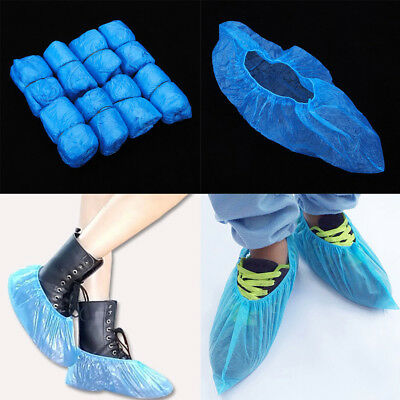 100 PCS Boot Covers Plastic Disposable Shoe Thick Overshoes Medical Waterproof
