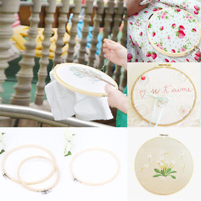 Nice Bamboo Cross Stitch Machine Embroidery Hoop Ring Sewing Tool 13-34 CM Craft