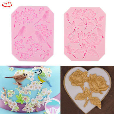 3D Rose Flower Silicone Fondant Mold Cake Decor Chocolate Sugarcraft Baking Mold
