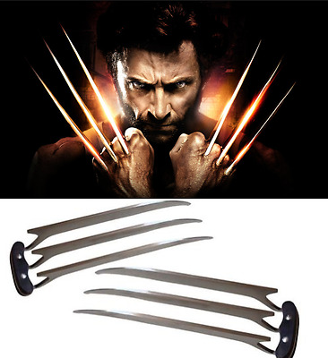A pair X-Men Wolverine Movie Logan Blade Claw Paw Cosplay Prop Men Birthday Gift