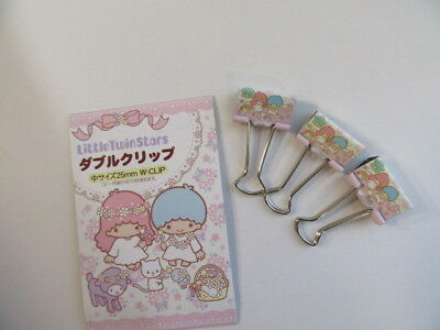 Little Twin Stars W Clip Sanrio Japan