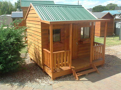 CUBBY HOUSE Solid Timber THE GRIZZLY by Bear Cubby MADE IN MELB  NEW