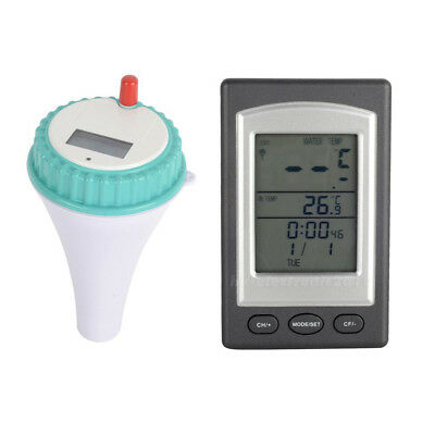 Solar Floating Pool Thermometer Wireless Digital Display Spa Water Tub Ardent