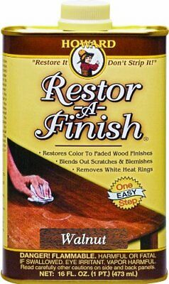Howard Restor-A-Finish, Blends Out Scratches Wood Finishes, 16-Ounce, Walnut